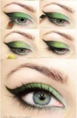 Пошаговый макияж для узких зеленых глаз
