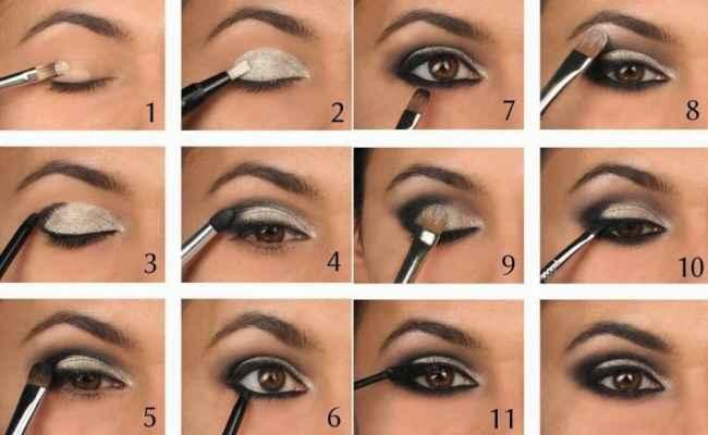 Как нанести правильно макияж для карих глаз