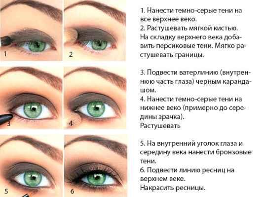 Макияж на работу для зеленых глаз поэтапно