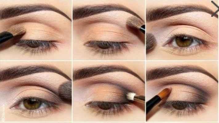 Простой макияж карих глаз