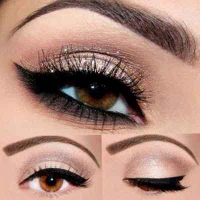 Утренний макияж для карих глаз