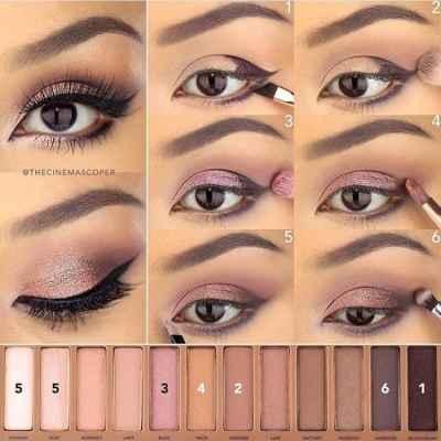 Красивый макияж для карих глаз в домашних условиях с фото