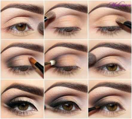 Правильный макияж для карих глаз поэтапно