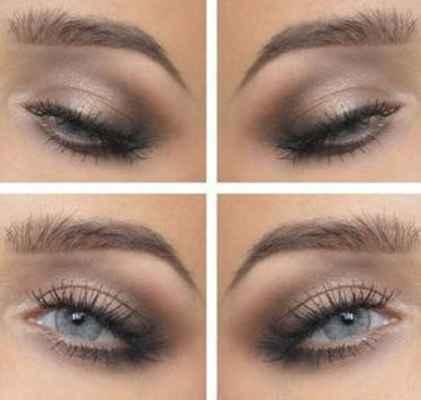 Натуральный макияж для серых
