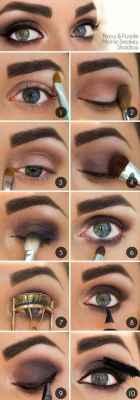Примеры макияжа карих глаз фото