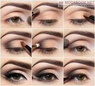 Дневной макияж для зеленых глаз с пошаговым 92