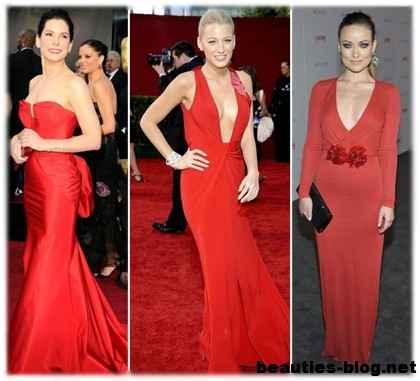 Макияж для красного вечернего платья в пол