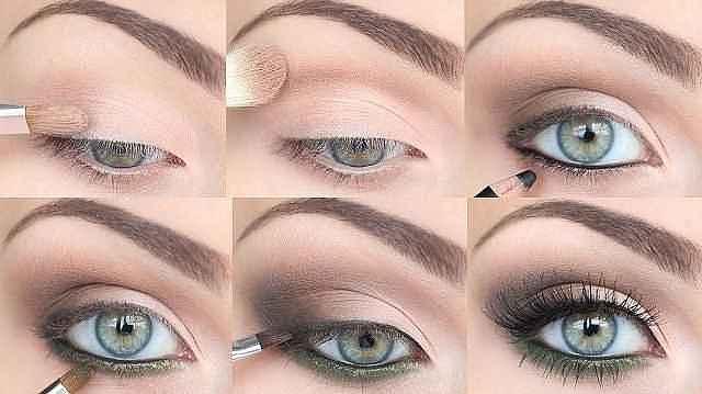 Варианты повседневного макияжа для серых глаз6