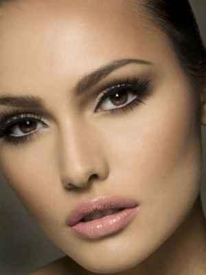 Ежедневный макияж для брюнеток с карими глазами фото