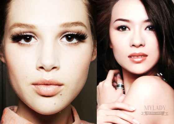 Фото макияж для увеличения глаз