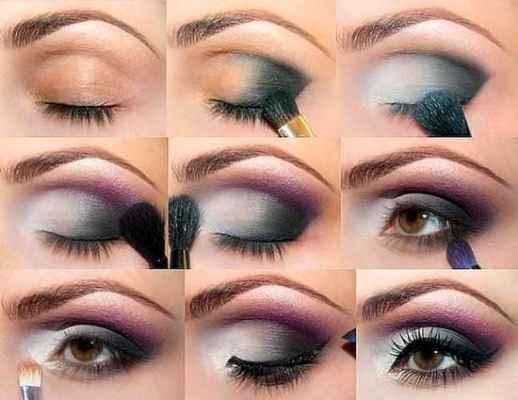 Как красиво нанести макияж на глаза видео