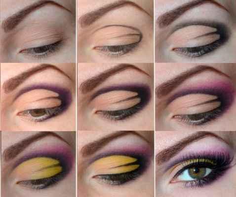Пошаговый макияж для каре зеленых глаз
