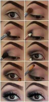 Глаза карие накрасить пошагово