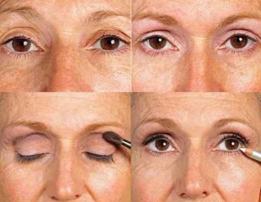 Макияж для серых глаз с нависшими веками видео