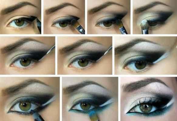 Макияж серо-зеленых глаз пошаговое фото в домашних условиях