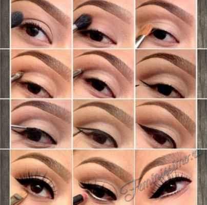 Бежевый макияж для карих глаз