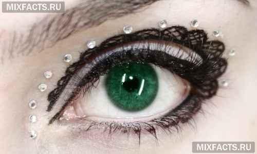 Как сделать тату из подводки для глаз