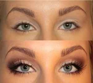Как глаз сделать визуально больше глаза
