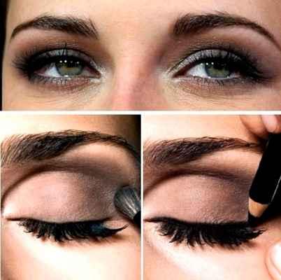 Eye makeup for brown hooded eyes