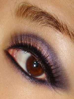 Макияж карие глаза сиреневой