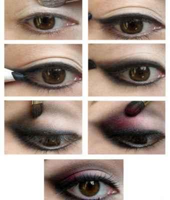 Корейский макияж для глаз поэтапно 14
