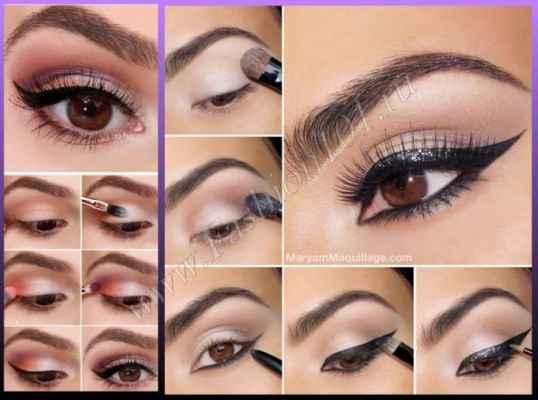 Фото легкий макияж для карих глаз пошагово фото