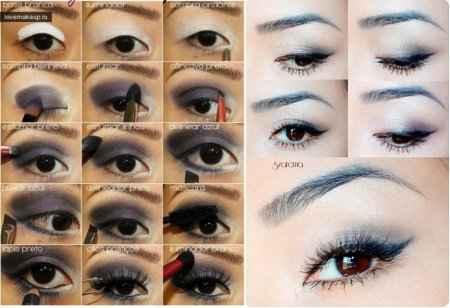Как с помощью макияжа сделать узкие глаза 993