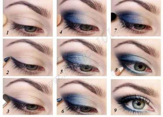 Как сделать макияж для серо голубых глаз 542