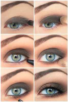 Макияж для голубых глаз блондинок пошаговое