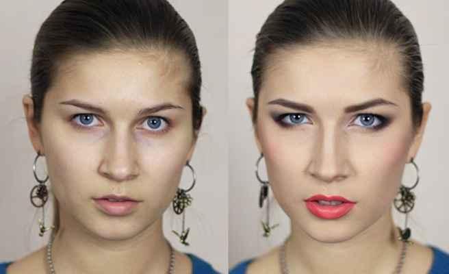 Макияж глаз у женщин с нависшими веками