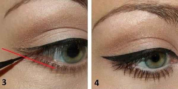 Как сделать себе стрелки на глазах фото