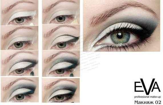 Красивый макияж для карих глаз Пошаговое фото