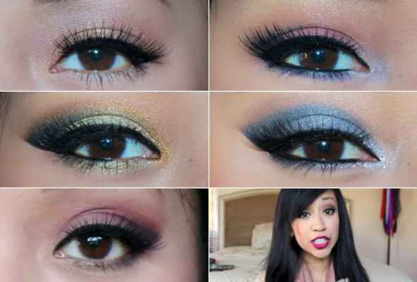What color eye makeup for blue eyes and brown hair