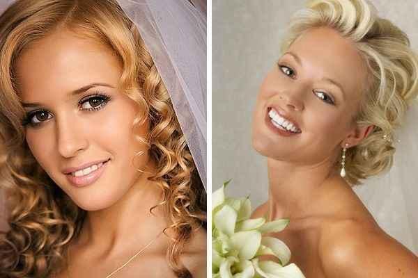 Макияж на свадьбу для блондинок с карими глазами 25