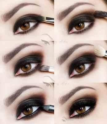 Макияж своими руками пошаговое фото для серых глаз