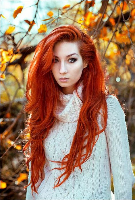 Макияж медные волосы фото